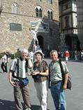 Patrick with guests in Florence