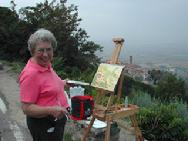 Painting Cortona from above